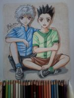 Gon and Killua by RehamsDrawing