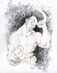 Hellboy Wondercon sketch by RyanOttley