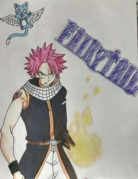 Natsu and Happy by Time-Dancer