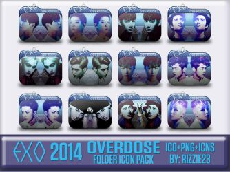 EXO Overdose Folder Icon Pack by Rizzie23