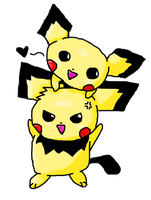 Pichu Brothers Colored by ChuChuDarling81