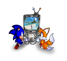 Dreamcast Sonic and Tails Co-op Time by ClassicSonicSatAm