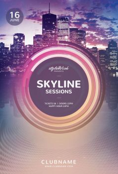 Skyline Sessions Flyer by styleWish