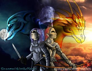 Collab/Comm: Tale of the Dragon Gods by DreamWithinTheHeart