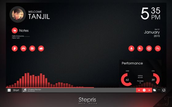[Updated] Stepris v1.3 for Rainmeter by T-Projects