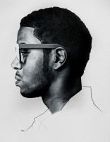Kid Cudi + color pencils by relaurellano