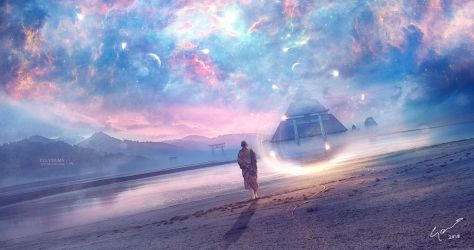 The universe inside us by Ellysiumn