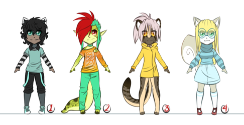 Adoptables Open 3/4 by Sweet-Coffey