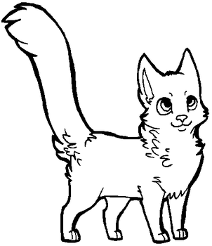 Free cat lineart [MS Paint friendly] by xSitax