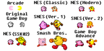 Pac-Man vs. Kirby in 9 versions by SuperStarfy2002
