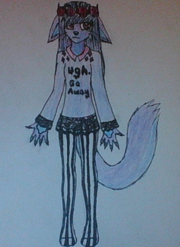 Pastel Goth Kitty Drawing for MoonPastry by Miseka