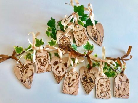 Slightly Scented Wooden Tags by BumbleBeeFairy