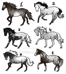 20 point horse adopts [1/6] -OPEN- ( batch 7 by TheAdoptArtist