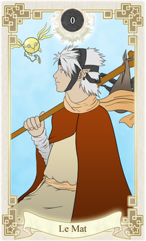 MS: Tarot Card - Cadel the Fool by MonkeyTheArtist