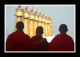 three monks by chinlop