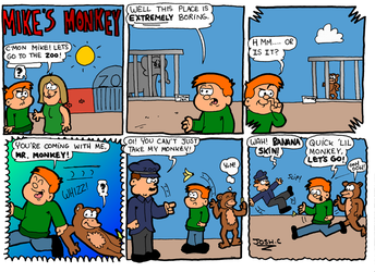 Mike's Monkey Strip 1 by Young-Freddy