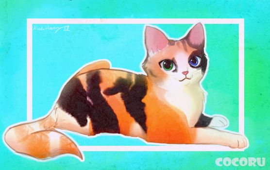 Drawing 1.  Calico Kitty by Cocoru