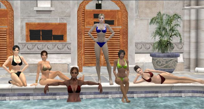 Girls Poolside Party by blw7920