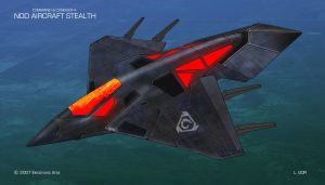 Nod Stealth Aircraft Concept by HeavyMetalDesigner