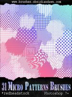 GIMP Micro Patterns Brushes by Project-GimpBC