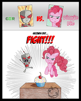 FIGHT FOR THE CUPCAKE by Sandy--Apples