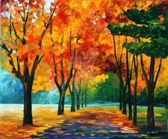FALL DREAM by Leonid Afremov by Leonidafremov