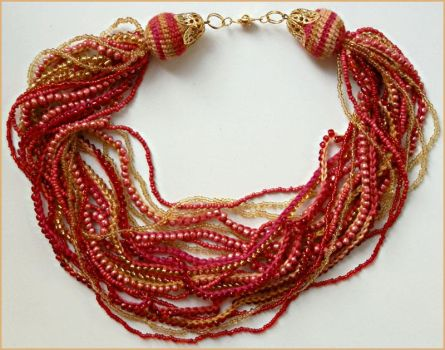Harvest of gold necklace by cat-o-love