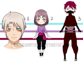 Naruto Adoptables LEFTOVER - CLOSED - by ChainOfRain
