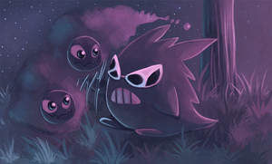 Cool Guy Gengar Be Chilling by Pace-Eterna