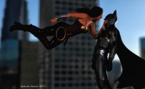 Diana and Bruce by galidor