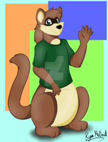 Billy the ferret birthday gift art by Ryan-the-fox