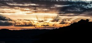 Sunset Over the Velona's Castle by Adhras