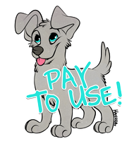 PUPPY LINEART (PAY TO USE) by kaierra