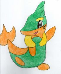 Buizel+snivy by Grovy11