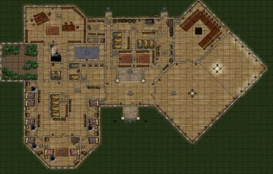 DND mansion map - 1st Floor by r3v3r53d
