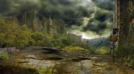 Post-apocalypse New York City by Sad-Cat
