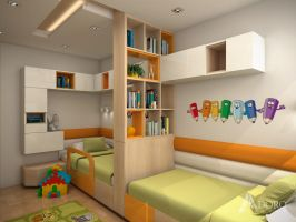 Kids Bedroom for two children by adorodesign