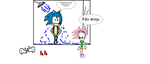 Amy sees Sonic naked in the shower by Ghostbustersmaniac