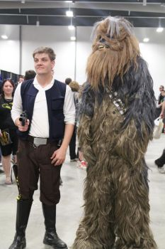 Hans Solo and Chewbacca by VoiceofSupergirl