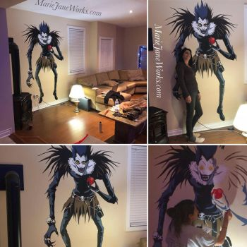 Ryuk DEATH NOTE Mural by MarieJaneWorks