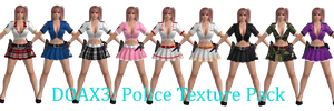 DOAX3 Police Textures by Choshinsei-chan