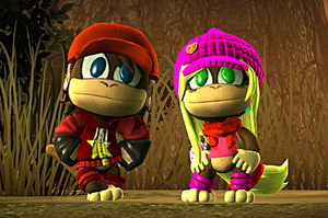 Diddy and Dixie Kong Redesigns 2.0 - LBP3 Costumes by Varia31