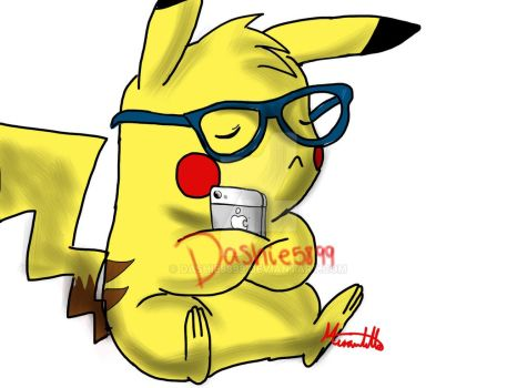 Le Hipster Pika ^_^ by Dashie5899