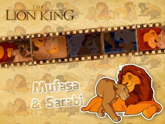 Mufasa and Sarabi   TLK - Wallpaper by Howie62