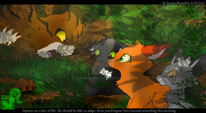 Into the Wild - Teaching the apprentices by JB-Pawstep