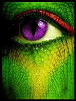 Reptile Eye by CodeineCity