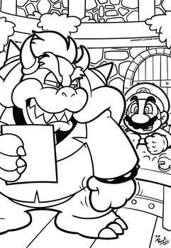 SMB the movie coloring book REMAKE 25 by FlintofMother3
