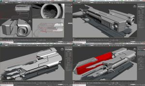 Pistol RG-AM.95 3D modeling - MultiWIP by Unreal-Forever