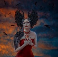 and only crows circling ... by Irina-Ponochevnaya