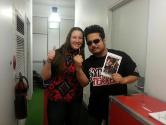 Me, Harada, and my novel by Razer-Athane